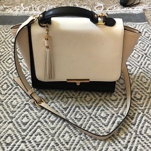 Black and light pink purse